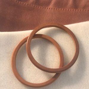 Jewelry - Vintage wooden bangle bracelets